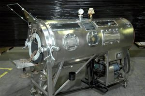 Iron lung used for people with polio